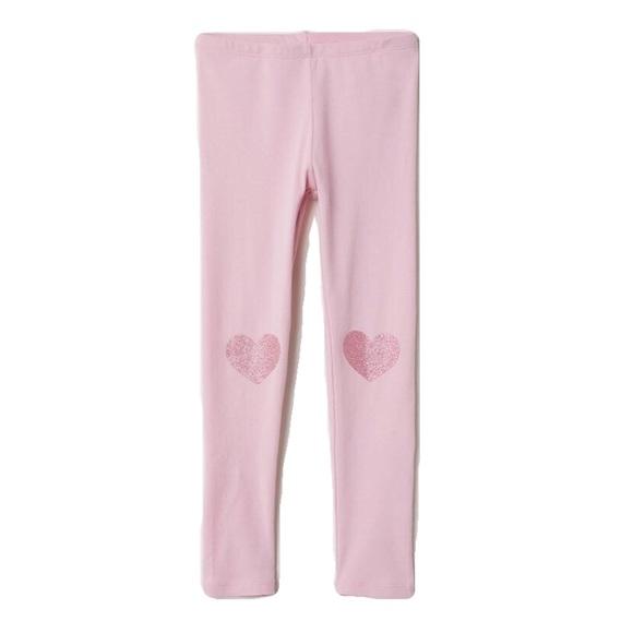 H M Bottoms Nwt Hm Pink Heart Leggings 1824mo Poshmark